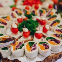 wedding reception food decoration